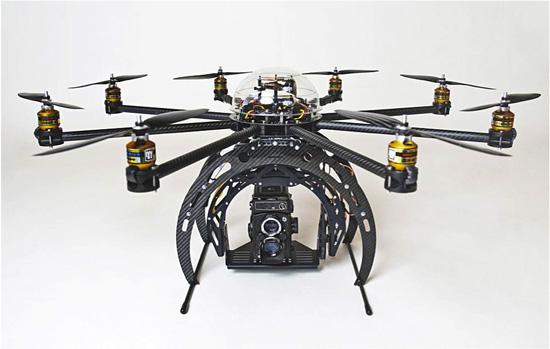 Camera montée sur drone