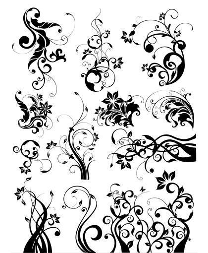 Images vectorielles art floral gratuites