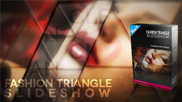 Fashion Triangle Slideshow, template after effect