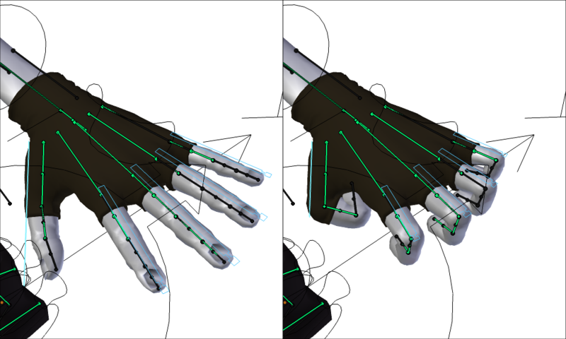 Rigging d'une main dans Blender