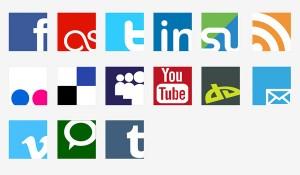 Icônes vectorielles réseau sociaux gratuits
