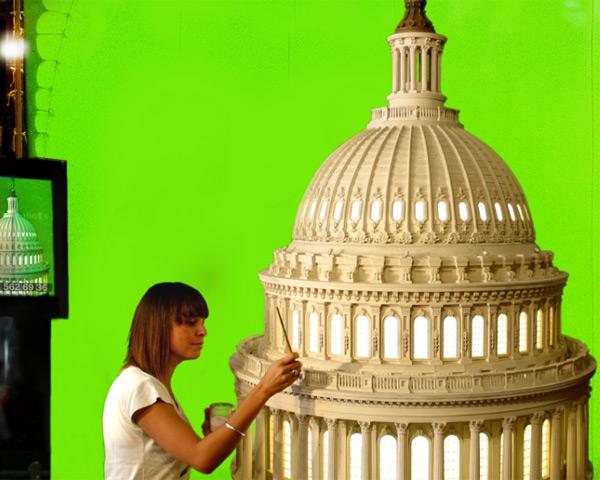 Laurie Chareyre restaure le dôme de la maison blanche utilisé dans Independance Day