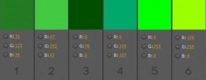 Quel vert pour un tournage chroma key ?