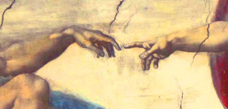 La création d'Adam de Michel Ange