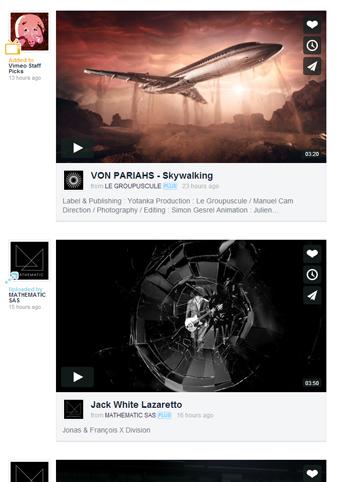 Affichez seulement vos meilleures sources d'inspiration vidéo !
