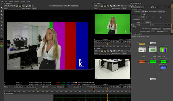 Chroma Keying dans Natron
