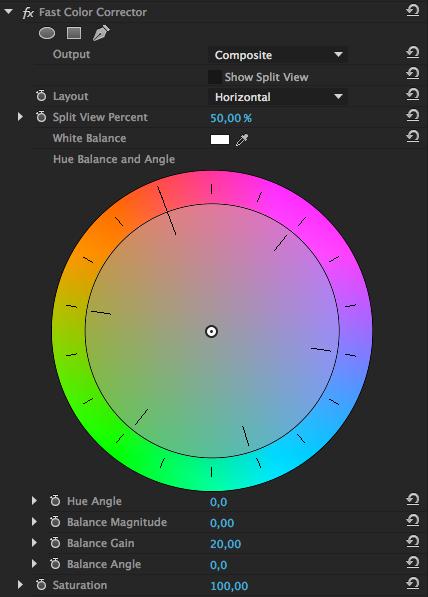 """Plugin """"fast color correction"""" de première"""