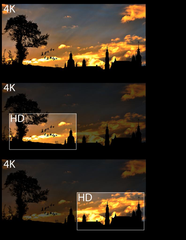 Recadrage / crop d'un plan 4K en HD