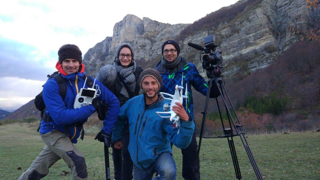 Une partie de l'équipe de tournage !